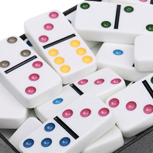 MonkeyJack Double Six Domino Set of 28 Pcs Board Kid Travel Game Toy Colorful Dot White by MonkeyJack (Image #7)