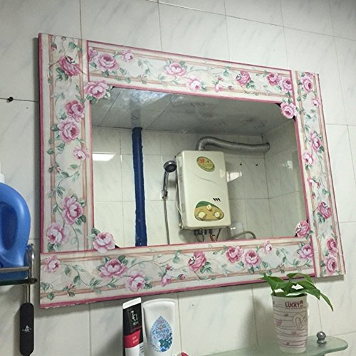 SimpleLife4U Luxury Peony Removable Wallpaper Border Self Adhesive Stciker Kitchen Bathroom Wall Decor by SimpleLife4U (Image #4)
