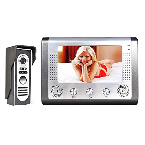 MOUNTAINONE 7 Inch Video Door Phone Doorbell Intercom Kit 1-camera 1-monitor Night Vision (Door Phone)