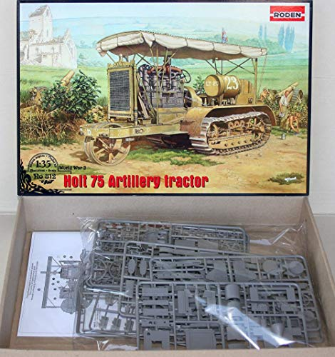 (HOLT 75 ARTILLERY TRACTOR US MILITARY PLASTIC MODEL KIT RODEN 812 SCALE 1/35 NEW SCALE WWI MODEL BUILDING KIT)