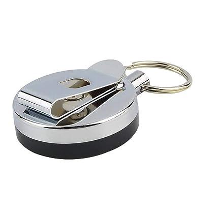 Rétractable Carte métal Badge Holder Anneau en Acier Clip Ceinture Pull  1PCS Porte-clé dc27a55a583