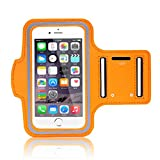 Minisuit Sporty Armband Running Gym Mobile Phone Running Cover Arm Band for Iphone 6 /6s. (Orange)