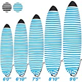 Pool spa Part Lightweight Board Bag Surfboard Sock Cover Great for Local Trips to The Beach (Blue and White, 6'0'')