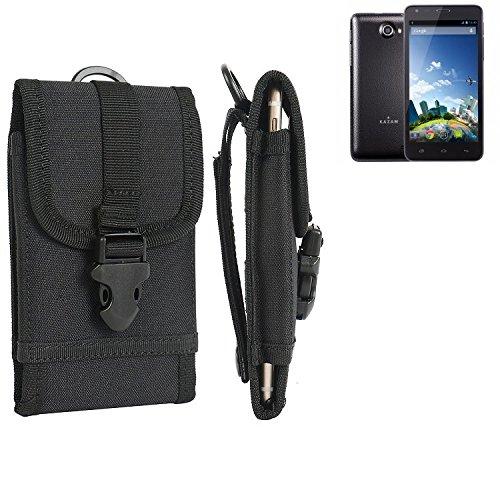 bolsa del cinturón / funda para Kazam Trooper 2 5.0, negro   caja del teléfono cubierta protectora bolso - K-S-Trade (TM)