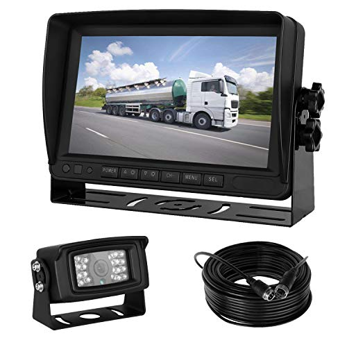 iStrong Backup Camera 7 HD Monitor kit 5th Wheel RV Truck Trailer Camper Rear View Camera Whole System Wire a Single Power Supply Waterproof 18 IR LED Night Vision Quick Install