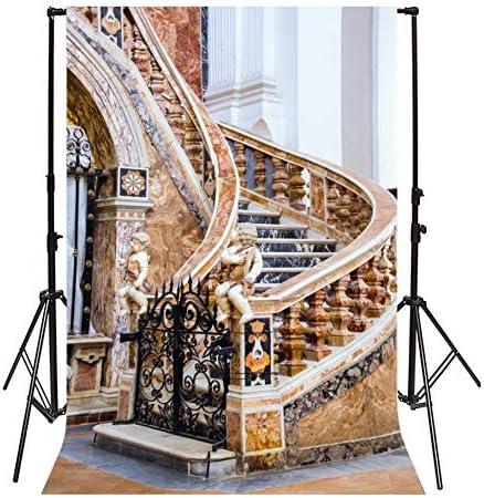 Leyiyi Retro Royal Spiral Stair Backdrop 10x12ft Photography Backdrop Children Statue Wedding Personal Portraits Studio Props