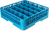 Carlisle RG25-114 Opticlean 25-Compartment Glass Rack with 1 Extender, Blue