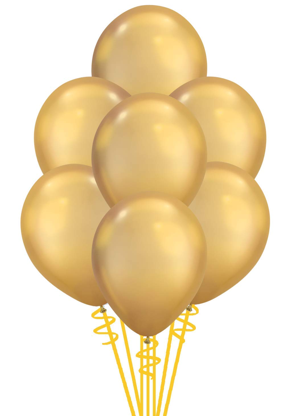 Qualatex Solid Shine Chrome Gold Biodegradable Latex Balloons, 11-Inches, 100-Units per pack (1-Pack)