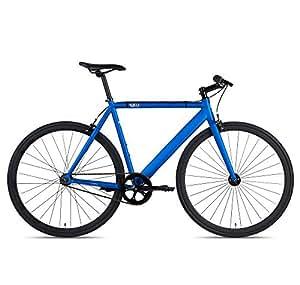 6KU Track Fixed Gear Bicycle, Navy Blue/Black, 47cm
