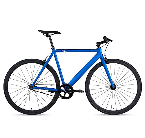 Track Fixed (6KU Track Fixed Gear Bicycle, Navy Blue/Black, 55cm)
