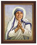 Gerffert Collection Saint Mother Teresa of Calcutta Print in Woodtone Frame, 11 1/2 Inch