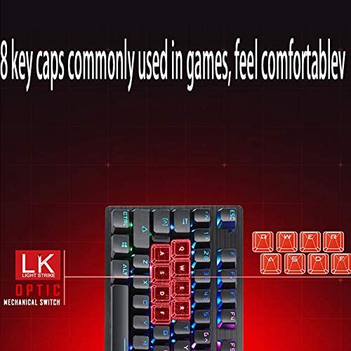 Jiu Si 104 Keys Keyboard Computer Mechanical Wired Keyboard RGB Backlight Mechanical Keyboard//Game Esports Dedicated Keyboard