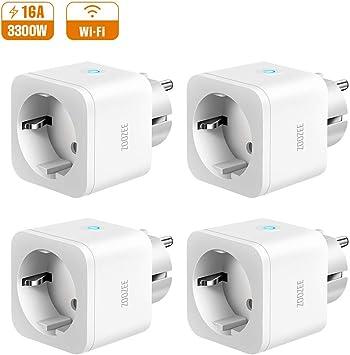 Zoozee - Enchufe inteligente con WiFi, 16 A, mando a distancia y ...