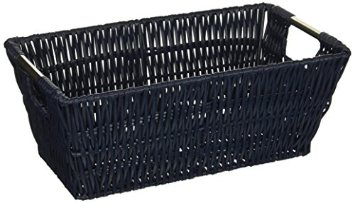 Navy Blue Baskets (Whitmor Rattique Small Shelf Tote)