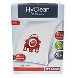 Miele Vacuum Cleaner Bags Type FJM HyClean S241-S256i S290-S291 S300i-S399 S500-S578 S700-S758 S4000-S4999 S6000-S6999 (4 bags 2 filters)