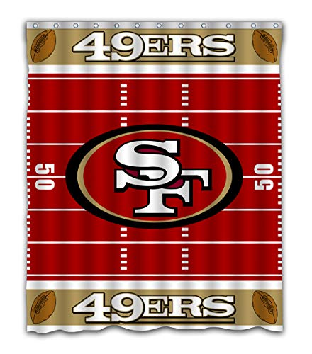 (Sonaby Custom San Francisco 49ers Football Field Design Waterproof Fabric Shower Curtain for Bathroom Decoration (60x72 Inches))