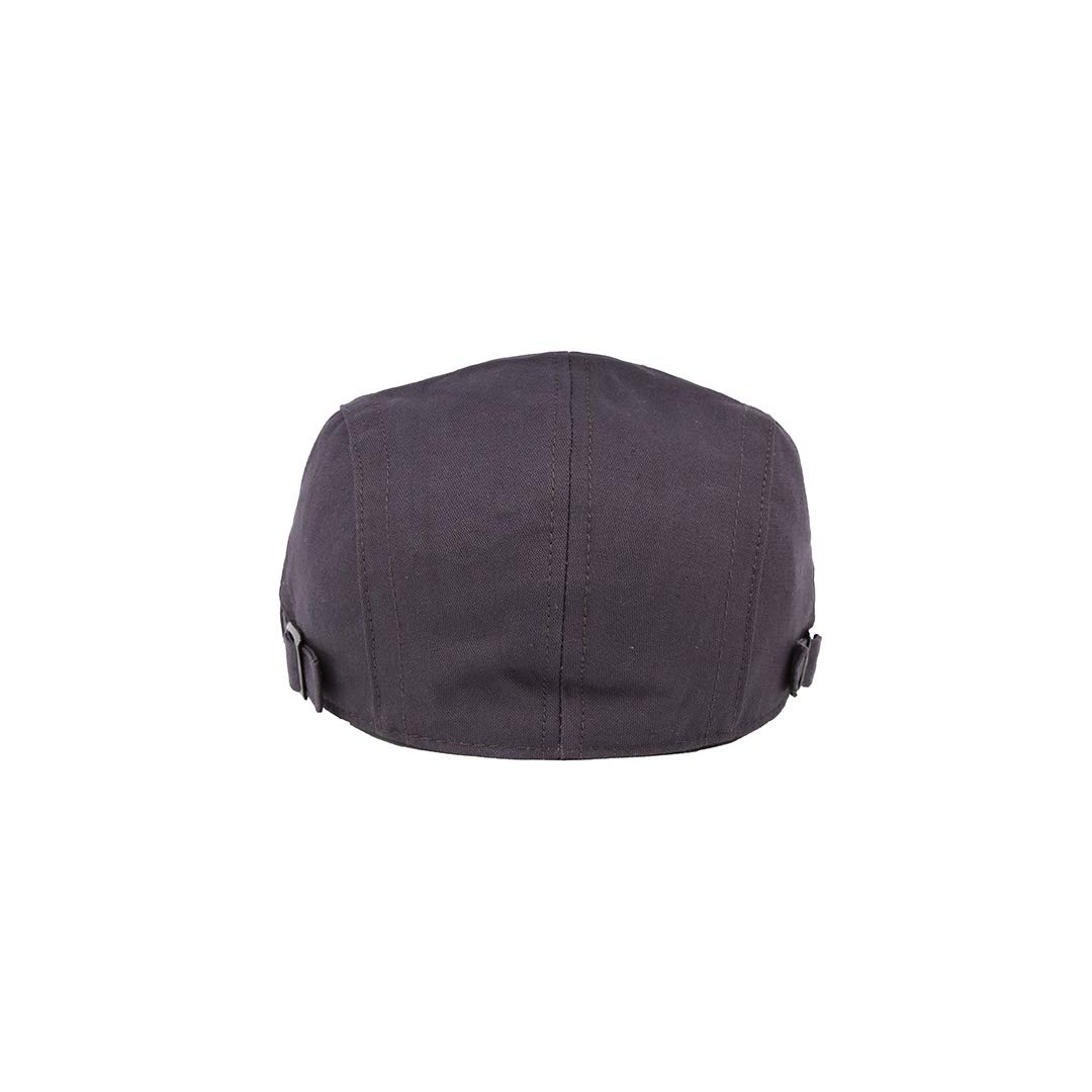 QARYYQ Cotton Caps Simple Solid Beret Mens British Cap Mens hat