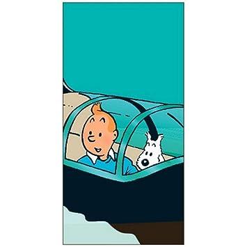 Serviette De Plage Tintin.Moulinsart Serviette De Plage Tintin Le Sous Marin Requin 100 Coton 80x160cm