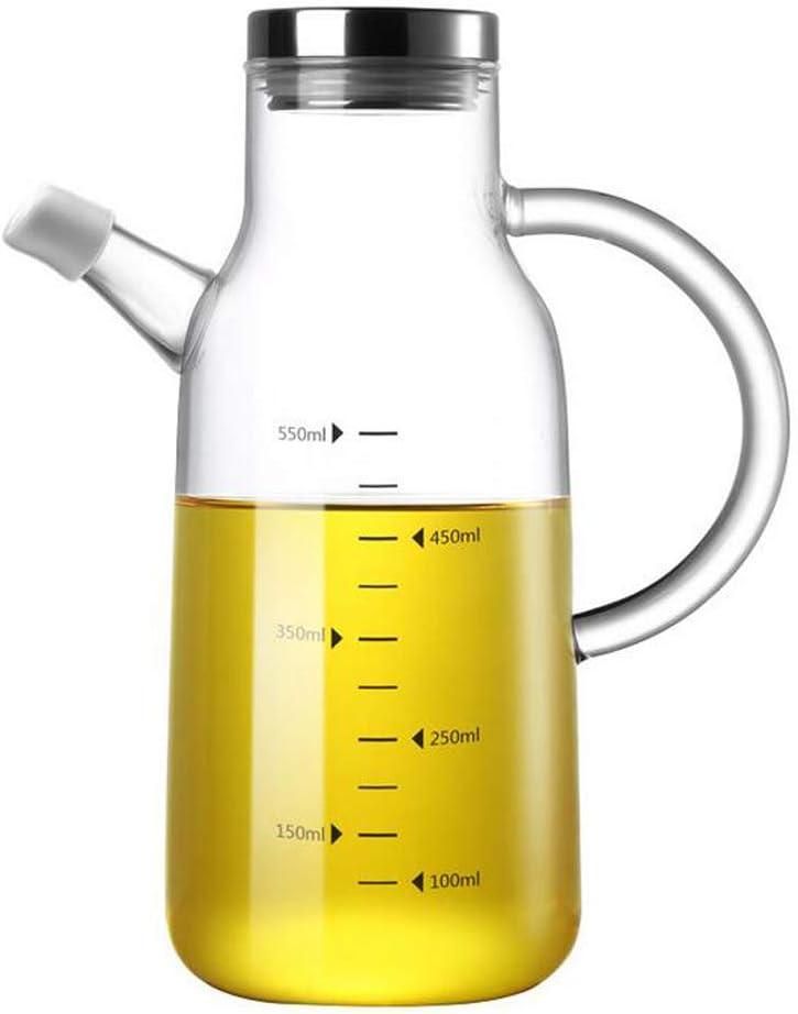 200 ml Dispensador de aceite de oliva Dispensador de aceite de vidrio sin plomo Vinagreras de botella de aceite de vidrio sin goteo Juego de 2 con soporte
