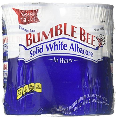 Bumble Bee Solid White Albacore-7 oz, 8 ct (Bumble Bee Premium Albacore Tuna In Water)