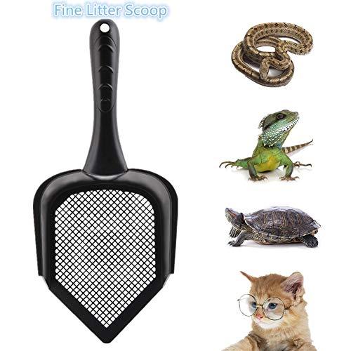 Bestmemories Cat Scooper Sifter de Arena Fina Kitty Litter Scoop Tamiz Kitty Litter Pala Punta Puntiaguda Cat Litter Scoop...