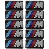 10X Tec Sport Wheel Badge 3D Emblem Sticker Decals Logo For bmw M Series M1 M3 M5 M6