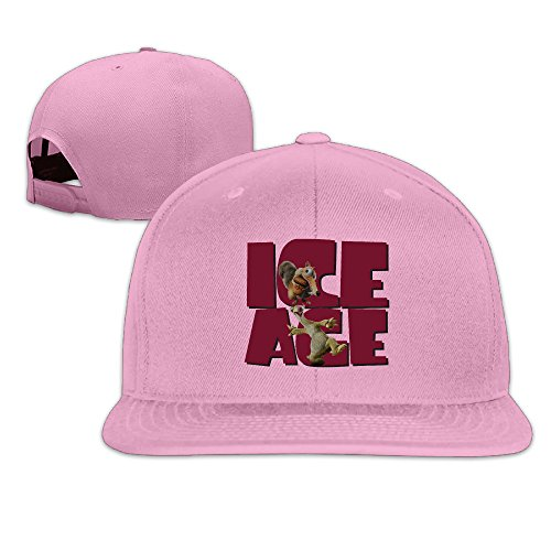 Custom Unisex-Adult Ice Age Collision Course Flat Billed Trucker CapHat Pink (2)
