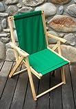 Highlands Deck Beach Chair Finish: Forest Green