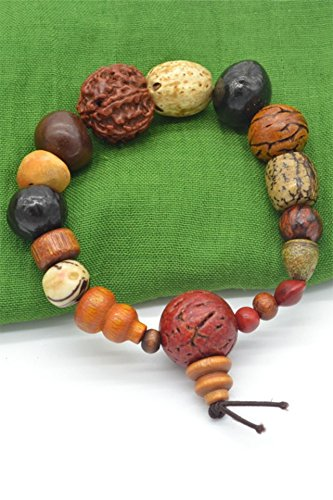 shibazi Wooden Skewers Fruit Seeds Bracelet Bangle Bracelets Men Man Women Girls Models Jewelry Jewelry Man Playing Bodhi jingang ()