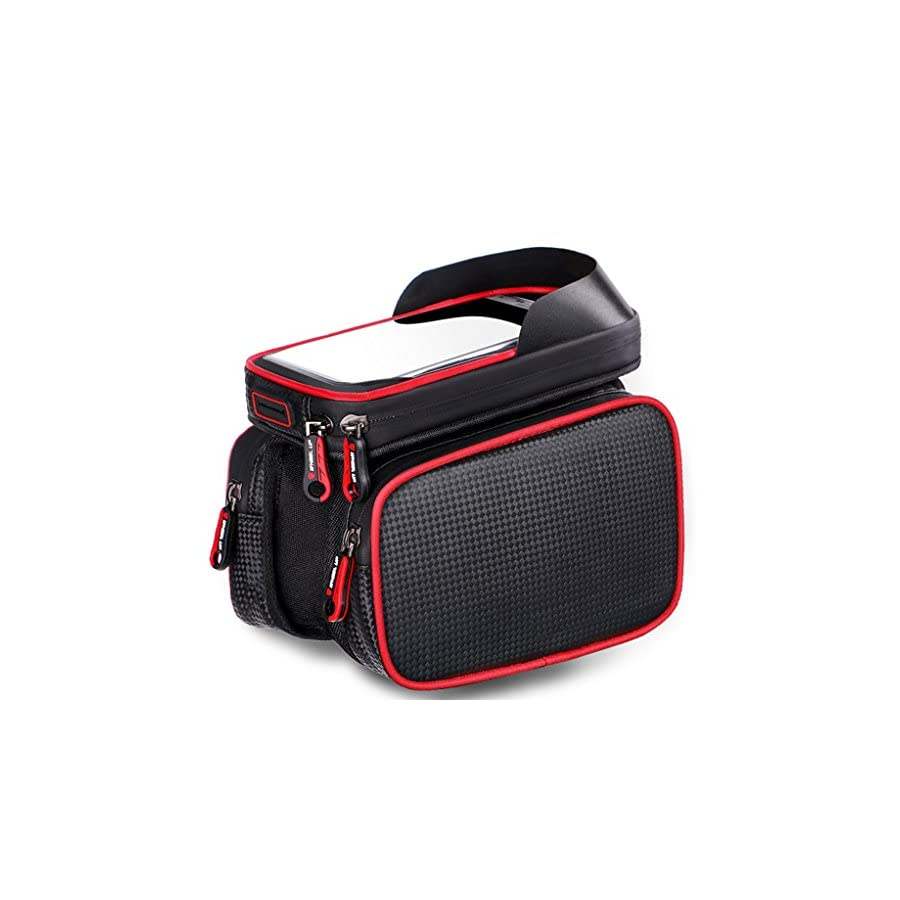 MF HOME Bike Bag for Cell Phone, Bicycle Front Shelf Large Storage Bag, Waterproof 6.2 inch Touch Screen Mobile Phone Bag,Outdoor Cycling Bicycle Accessories
