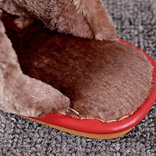Caldo Scivolare Pelle Lianaio Donna In Casa Pavimento Per Paio Da Pantofole Cotone Di 42 Scarpe Adatto 43 Uomo 39 40 Coperta Inverno Oxn80Ow