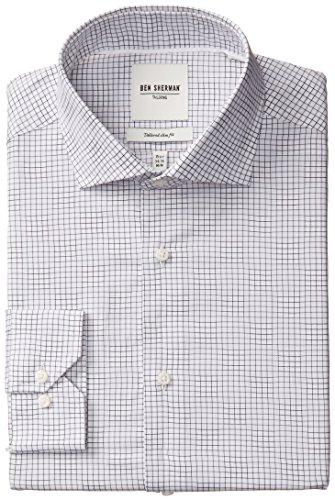 Ben Sherman Windowpane Spread Collar