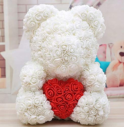 ANL Large 16Inch Rose Bear Gift For Her Gift For Him Valentines day Gift