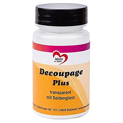 Decoupage Plus, clear with silk gloss, 90 ml, liquid adhesive and varnish  in one, especially for rice paper, paper, fabric, DIY, crafts and art.