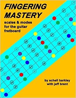 Book Fingering Mastery - scales & modes for the guitar fretboard by Schell Barkley (2012-05-11)