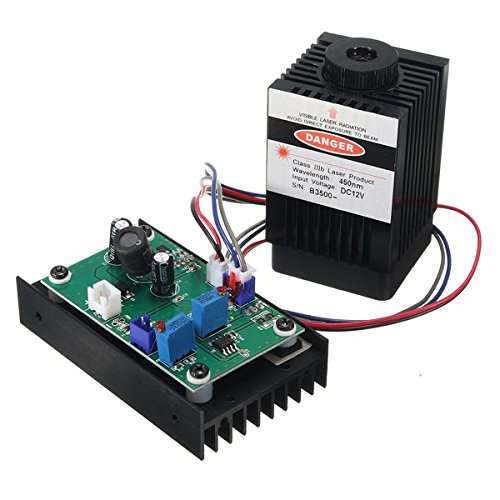 450nm 3500mW 3.5W Blue Laser Module With TTL Modulation for DIY Laser Cutter Engraver