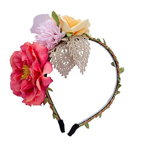 Spring Summer White Flowers Hairband Hair Bands New Women Girls Boho Lace Fabric Floral Headwear Elegant Headband for Party -