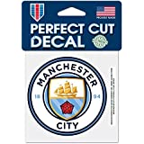 WinCraft MLS Manchester City FC 4x4 Perfect Cut Color Decal, Team Colors, One Size