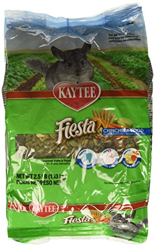 Food Chinchilla Complete Timothy - (3 Pack) Kaytee Fiesta Food for Chinchillas 2.5 Pound Bag