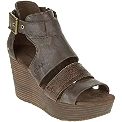Cat by Caterpillar Women's Destry Wedge Sandal Mulch 6.5 M, EU 37.5