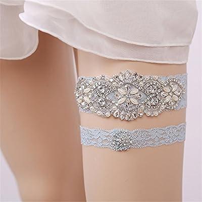 Fantasyday White Wedding Bridal Lace Garter Flower Leaf Style