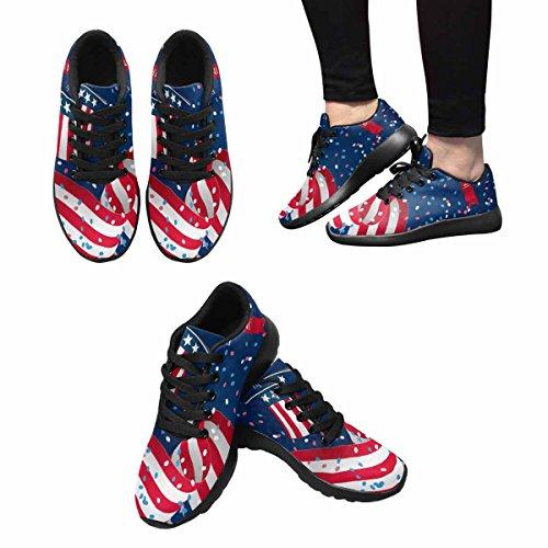 Sneaker Da Corsa Per Donna Jogging Leggera Easy Go Walking Comfort Sportivo Scarpe Da Atletica Quarto Di Luglio Indipendenza Giorno Multi 1
