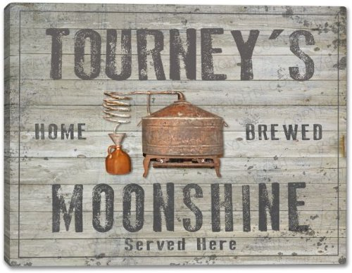 TOURNEY'S Home Brewed Moonshine Canvas Print 16