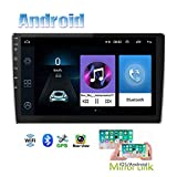Hikity Android Car Stereo Double Din with GPS 9 Inch Touch Screen Radio Bluetooth FM Radio Support WiFi Connect Mirror Link for Android/iOS Phone with Dual USB Input + Backup Camera