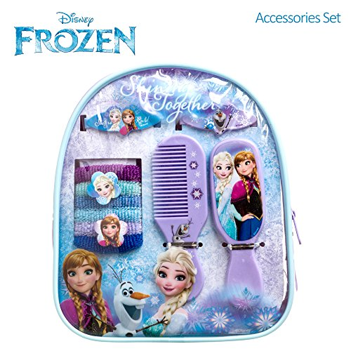 [Disney Frozen Girls Backpack Hair Accessories Set Comb Mirror Barrettes Terries] (Anna Costume Ideas)