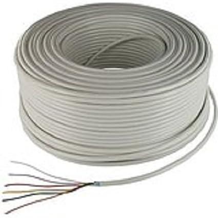 Bobina de 100 m de cable para alarma antirrobo de 4 hilos, apantallado, bobina