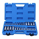 Premium Master Hex Bit Socket Set 5/64-inch to 3/4-inch 2mm to 19mm - Blackpoolfa 32 Piece Allen Wrench Bit Kit Hex Key for Ratchet Socket Tool SAE Metric Set