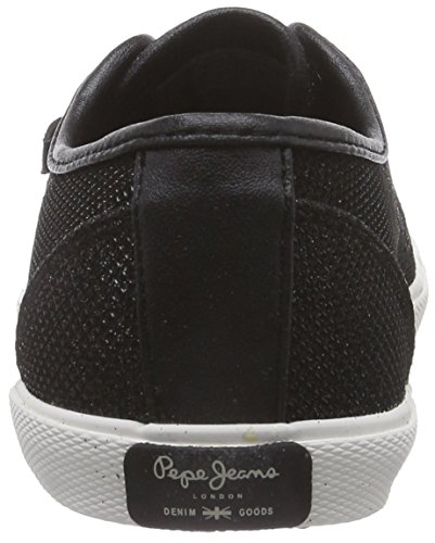 Pepe Jeans London Aberlady Lurex Damen Sneakers Schwarz (999BLACK)