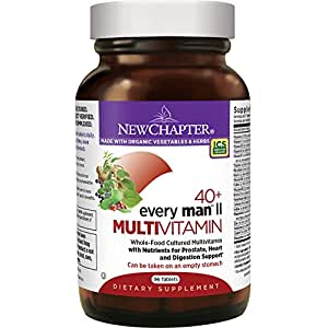 New Chapter Every Man II 40+, Men's Multivitamin Fermented with Probiotics + Selenium + B Vitamins + Vitamin D3 + Organic Non-GMO Ingredients - 96 ct