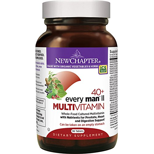 New Chapter Every Man II 40+, Men's Multivitamin Fermented with Probiotics + Selenium + B Vitamins + Vitamin D3 + Organic Non-GMO Ingredients - 96 ct (New Daily Chapter Ginger)